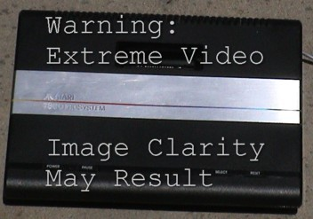 Image of Atari7800 with Extreme Video Warning.