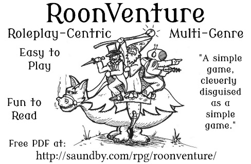RoonVenture advert with three riders on an Oranglomite.